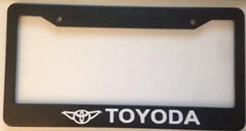 Stickysight.com Toyoda Style - Automotive Black License Plate Frame -