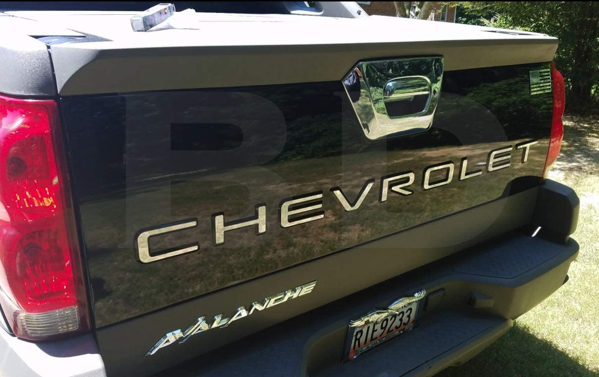 BDTrims Tailgate Raised Letters Compatible with Avalanche Models (Chrome)
