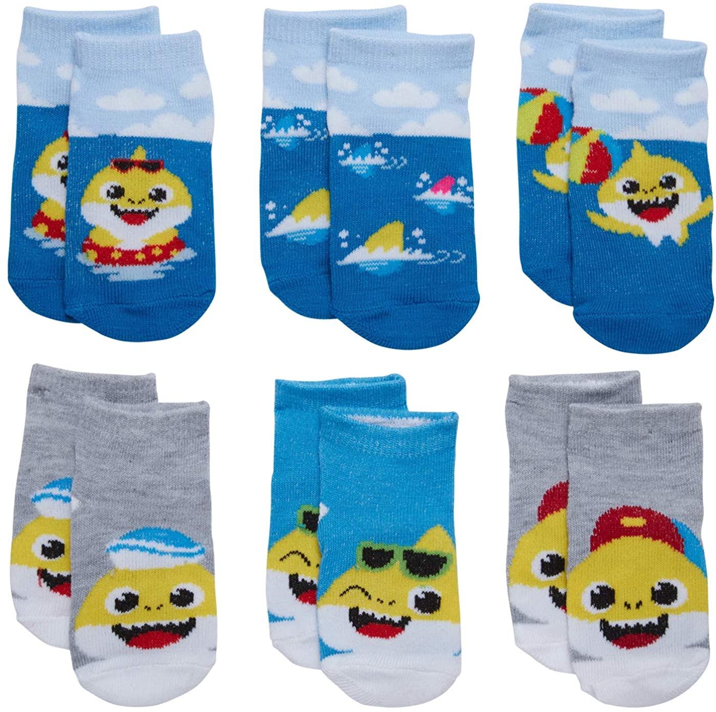 Nickelodeon Infant Boys' & Girls' Baby Shark Low Cut Socks (6 Pack)