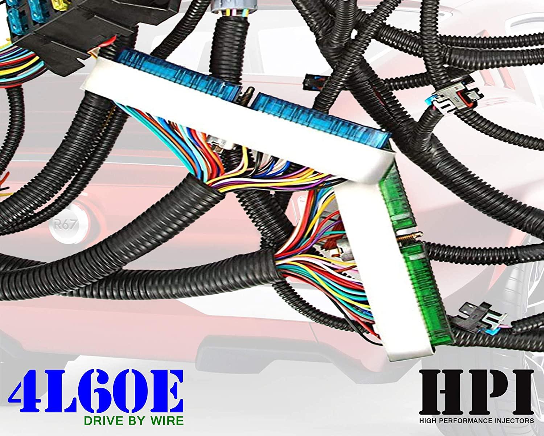 HPI 03-07 LS Vortec Standalone Harness 4.8 5.3 6.0 (DRIVE BY WIRE) (4L60E) (GREEN/BLUE PCM & MULTEC/DELPHI, FUEL INJECTOR CONNECTORS, (message us if ev1/ev6 needed) (4L60E)