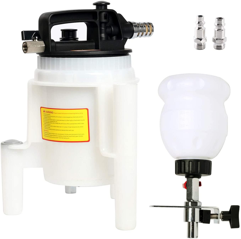8MILELAKE Pneumatic Oil Fluid Extractor Bleeder Kit 2L Fluid Evacuation Pump Kit