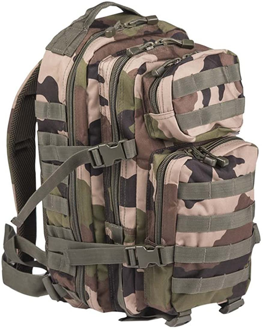 Mil-Tec Military Army Patrol Molle Assault Pack Tactical Combat Rucksack Backpack 30L French Army Cce Camo
