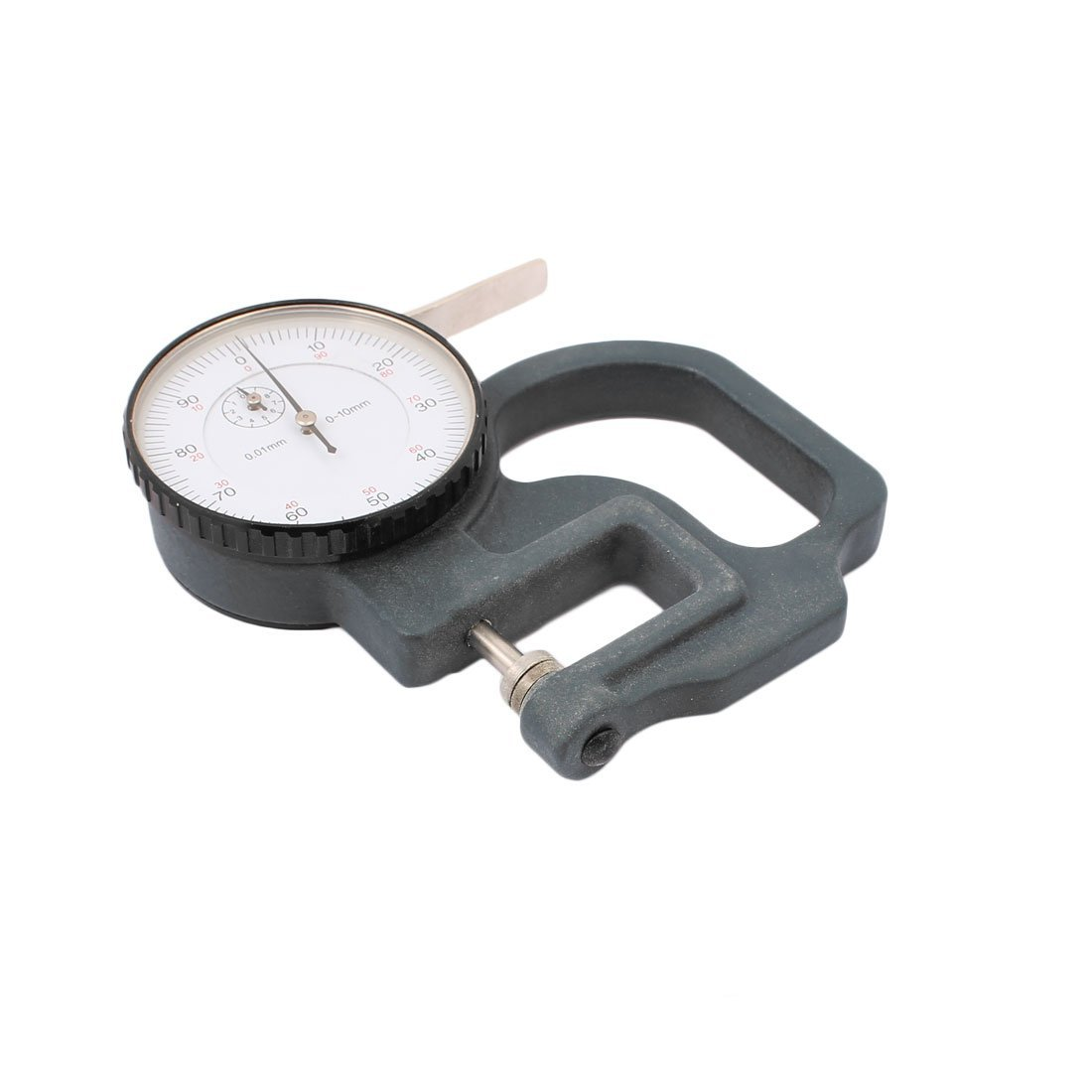Utoolmart Thickness Gauge, 0-10mm x 0.1mm Precision Accuracy Round Dial Indicator Thickness Gauge 1pcs