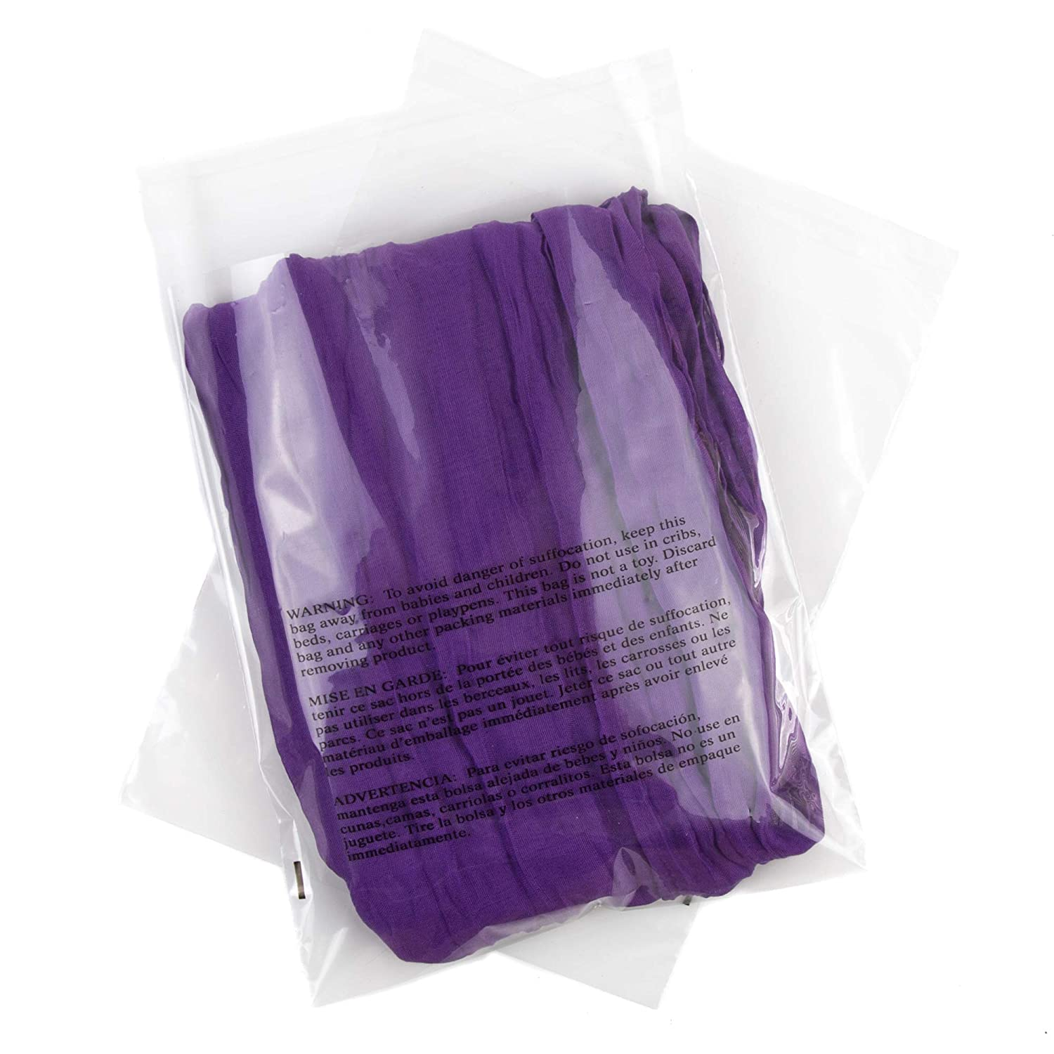 8x10 Poly Bags Suffocation Warning - Extra Strong Seal - 200 Pack - Clear Poly Bags 8x10 - Poly Bag 8x10-8 x 10 Poly Bags - Retail Supply Co