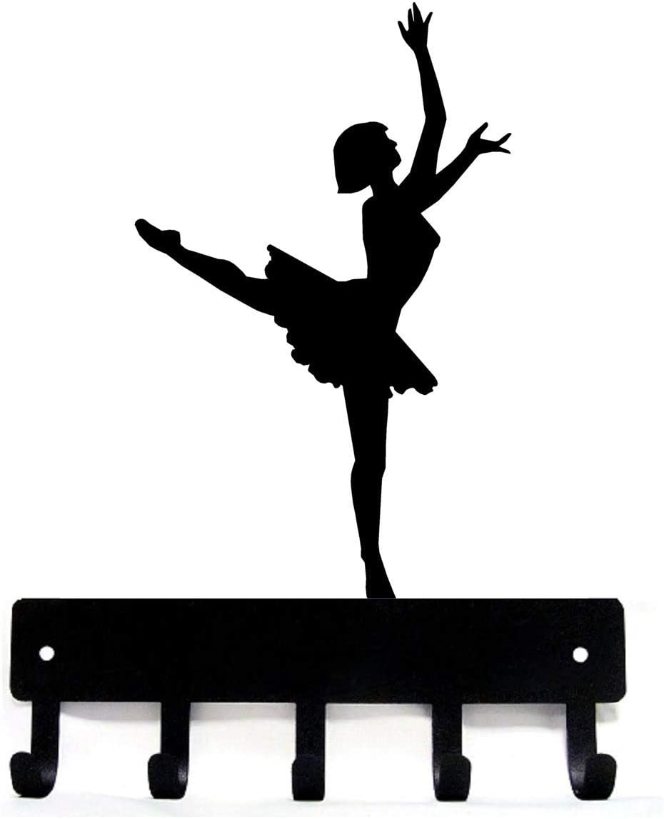 The Metal Peddler Ballerina Ballet Dancer #1 - Key Hooks Holder - Small 6 inch Wide - Made in USA