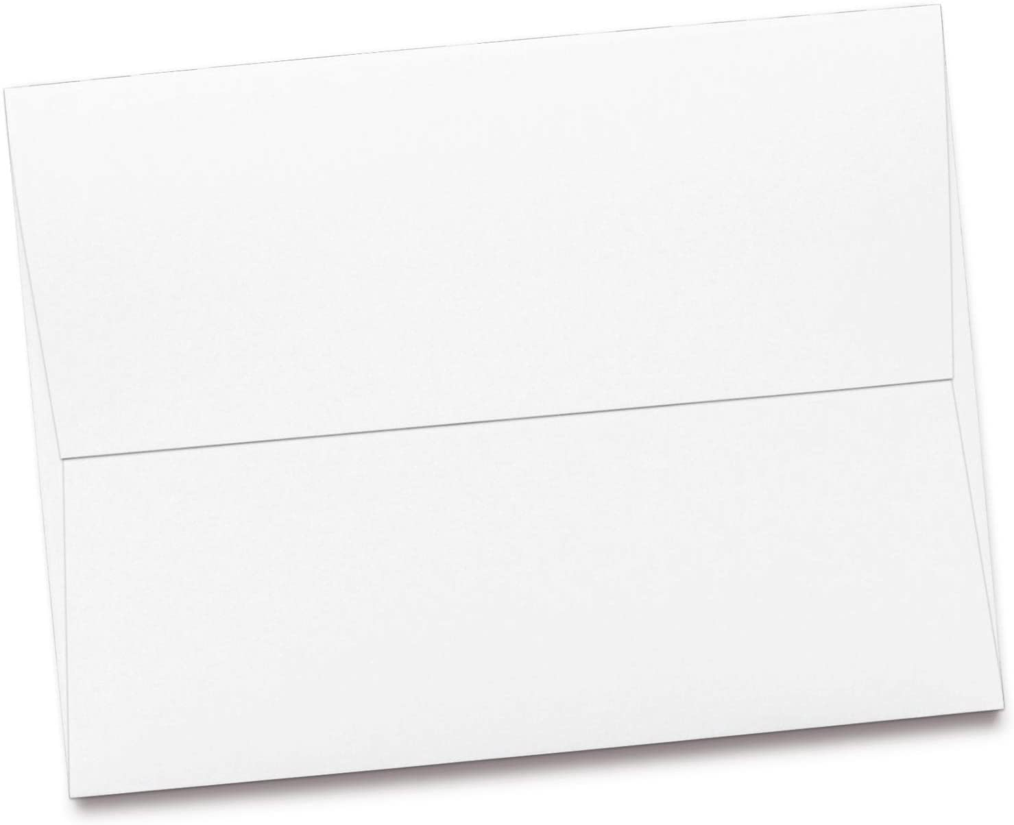 Bulk 1000 Piece Pack - Starbrite Opaque Select A7 Envelopes in White - 5 1/4 x 7 1/4 - Economy 24lb Bond Smooth Vellum Finish - for Bulk Mailings, 5x7 Invitations, Postcards, Greeting Cards
