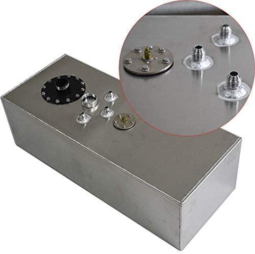 WFLNHB 15 Gallon Aluminum Polished Racing/Drifting Fuel Cell Gas Tank+Cap+Level Sender 57L