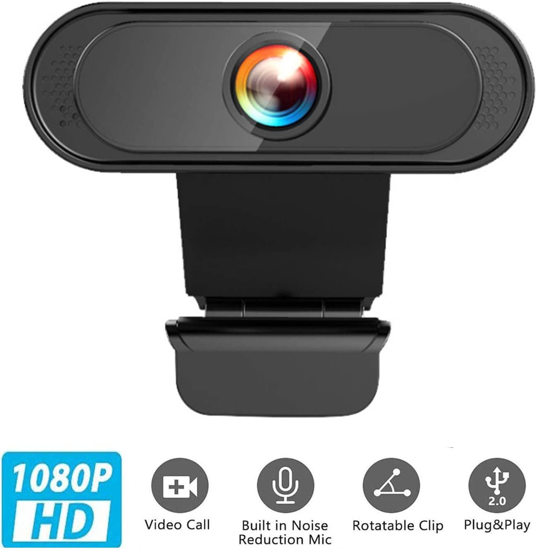 Davecam 1080p HD Webcam Desktop Laptop USB Web Camera Web Cam CMOS Sensor with Built-in Microphone for Video Calling for PC Laptop Desktop Mac Video Calling