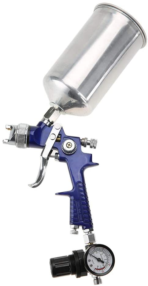 Air Paint Spray Gun, 1000ml Capacity Gravity Feeding Mode Air with 1.4mm Nozzle HVLP Spray Gun Pneumatic Tool for Automotive Paint Repair, Home Furniture, Toys, Instruments