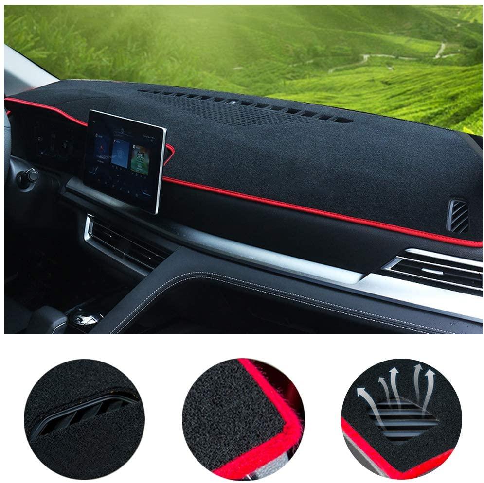 SureKit Car Custom Dash Cover for Hyundai Sonata 2004-2008, 2011-2014, 2015-2017 Auto Dashboard Pad DashMat Dash Board Cover (red line)