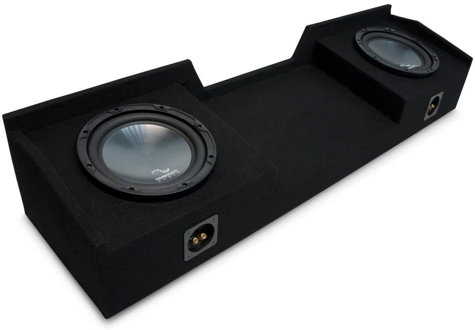 Harmony Audio R124 Dual 12 Sub Box Enclosure Compatible with Nissan Titan King or Crew 2004 2005 2006 2007 2008 2009 2010 2011 2012 2013 2014 2015