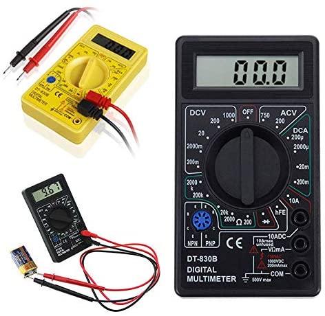 Digital Multimeter MASO LCD Digital Multimeter AC/DC 200/1750V Amp Volt Ohm Tester Meter (Black)