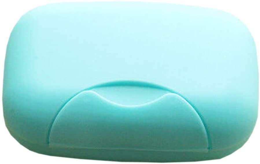 Black Temptation Set of 2 Bathroom Soap Dishes Travel Soap Holders Soap Boxes Case Blue
