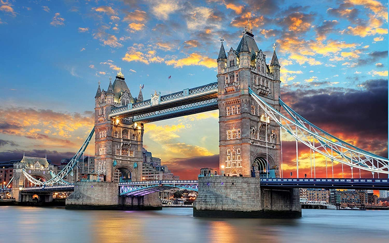 Jigsaw Puzzles 1000 Pieces for Adults Kids Tower Bridge Puzzle Educational Intellectual Decompressing Fun Family Game