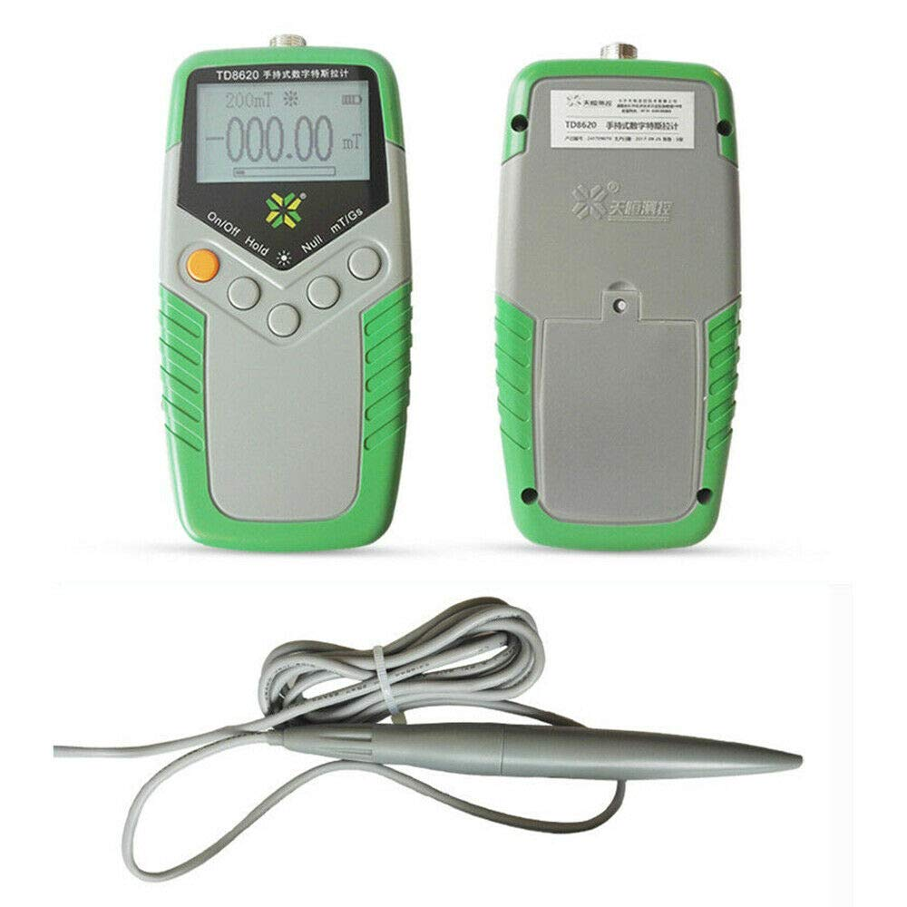 Magnetic Field Tester Flux Meter,Handheld Digital Tesla Meter High Precision,Range 0~2400mT mT/Gs TD8620
