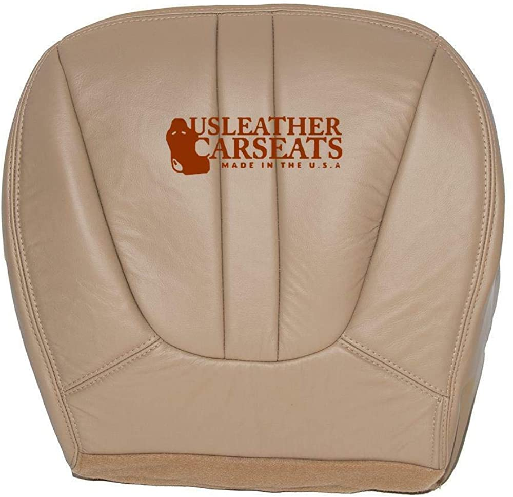 1997-1999 Ford Expedition Eddie Bauer Driver Side Bottom Leather Seat Cover Tan