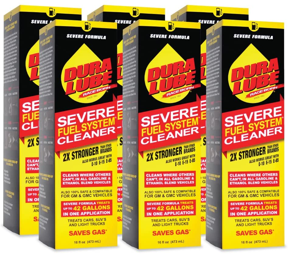 DURA LUBE HL-40199-06-6PK Severe Fuel System Cleaner, 16-Ounce, 6-Pack