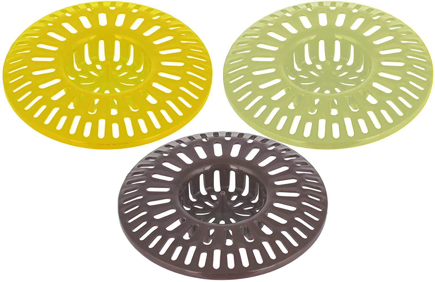 Shower Drain Stopper Hair Catcher 3 inches - Pack of 3 - Sink Strainer For Bathroom - Trap Cover for Bathtub - Catching Basket for Tub - Bath Catchers