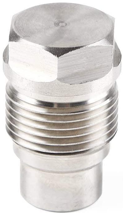 Stainless Steel Fuel Pressure Relief Valve for GM Duramax LLY/LBZ/LMM 6.6L 2004-2010 and Dodge Cummins 6.7L 2007-2012 Fuel Rail Plug