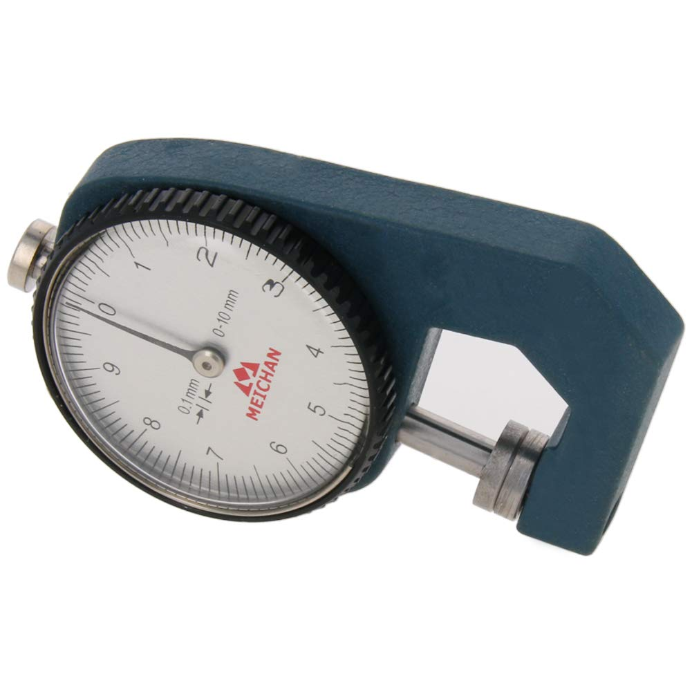 Utoolmart Thickness Gauge, C-05 0-10mm x 0.1mm Precision Accuracy Round Dial Indicator Thickness Gauge 1pcs