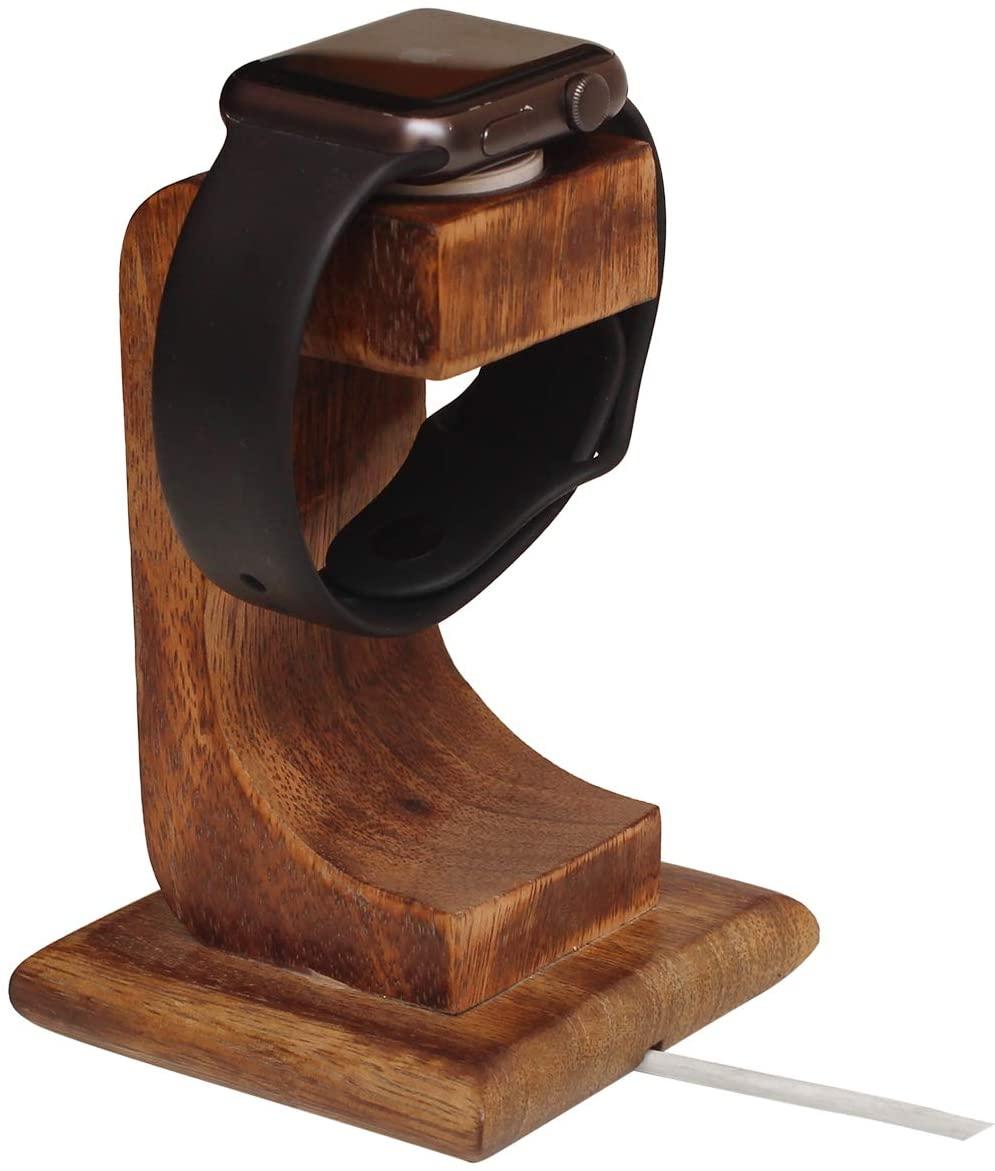 abhandicrafts 2020 - Wooden Watch Stand Smartwatch Charging Station