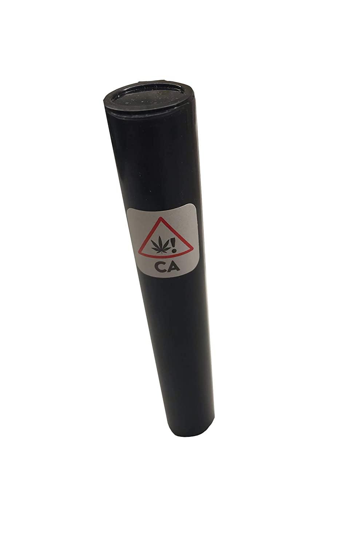 "Doob Tube 4.5"" 116 mm Black W/CA Label Packaging Child Proof (100)"