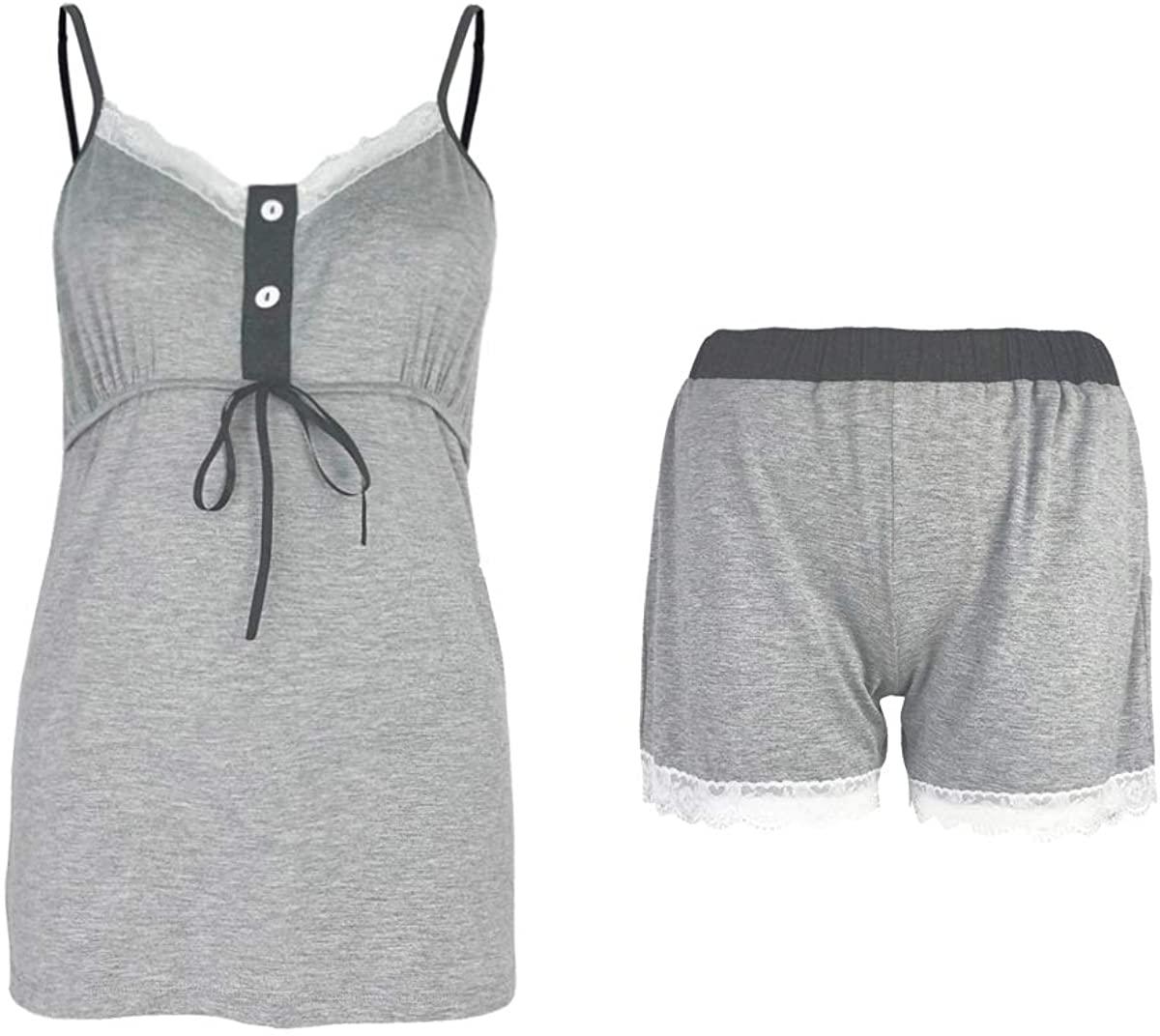 Sleepy Time Middle Rife Knot Women's Sleeve Less Bamboo Pajamas & Loungewear Set