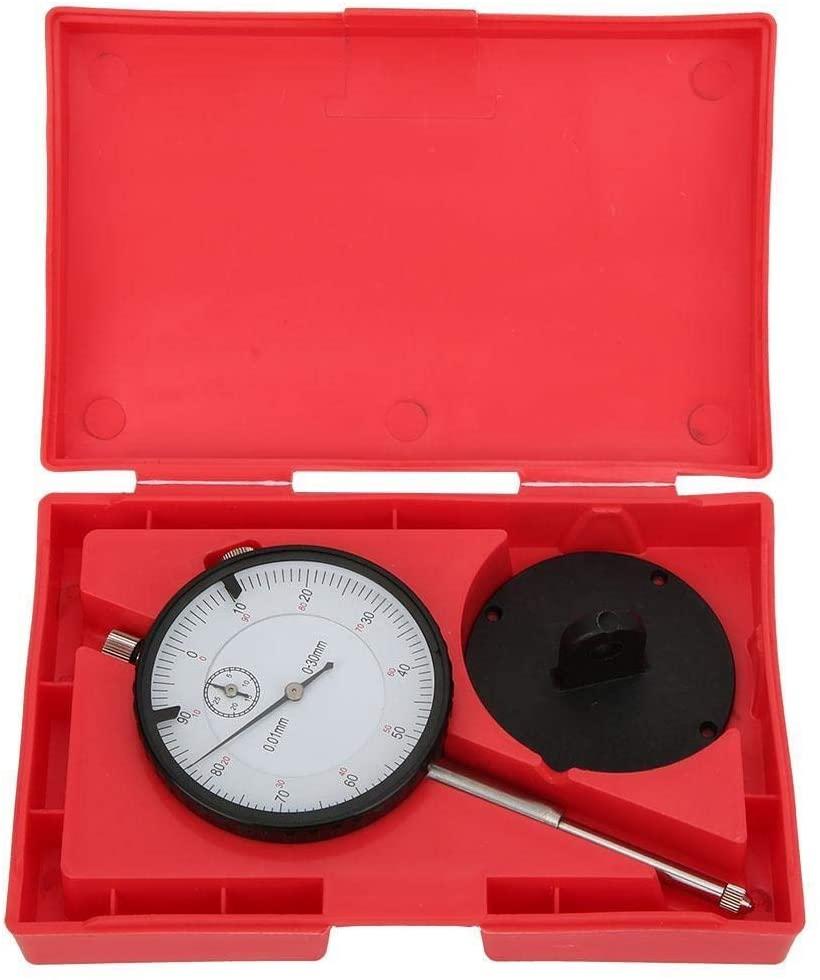 Beennex Dial Indicator Brass Movement 7-Bearings High Speed Steel Probe Head Measurement Tool 0-30mm