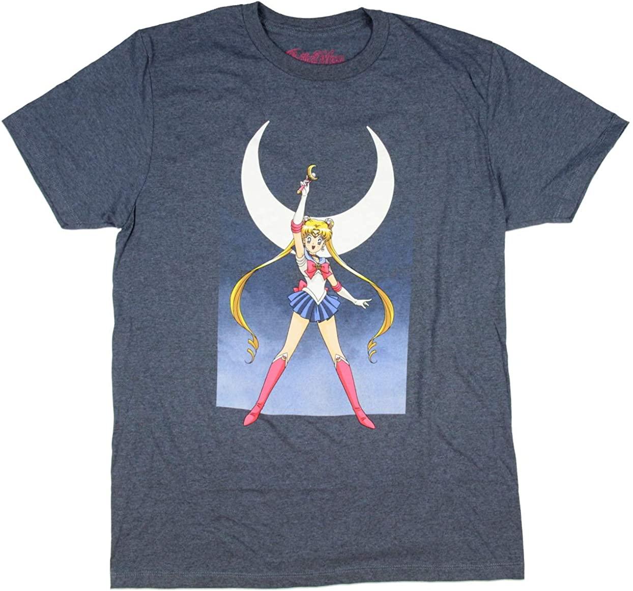 Sailor Moon Men's Anime Graphic T-Shirt
