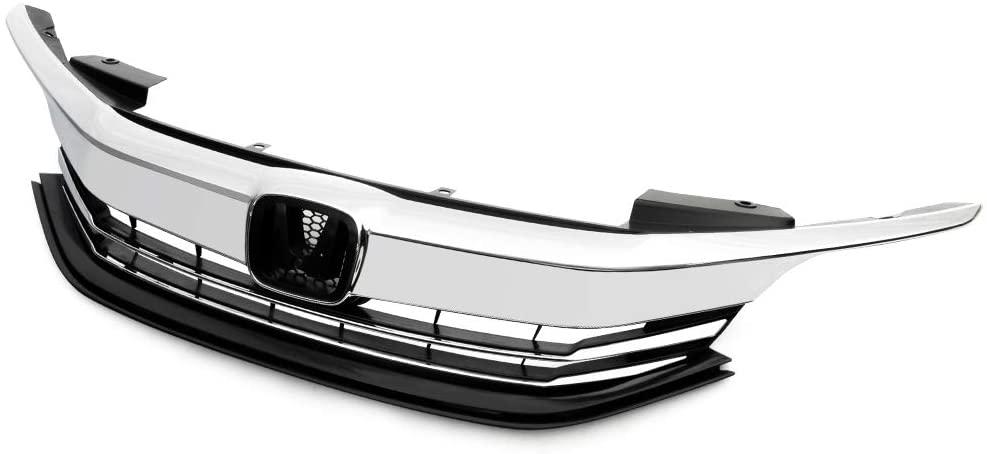 Front Bumper Grille Upper Grill Replacement For Honda Accord Sedan 4-Door 2016-2017