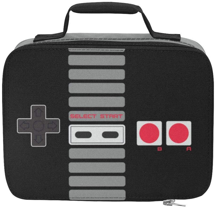 Games of Future Past Freezable Retro Vintage Lunch Box | Lightweight, Durable Nylon with Gaming Designs | Isothermic Lunch Box with Insulated Storage