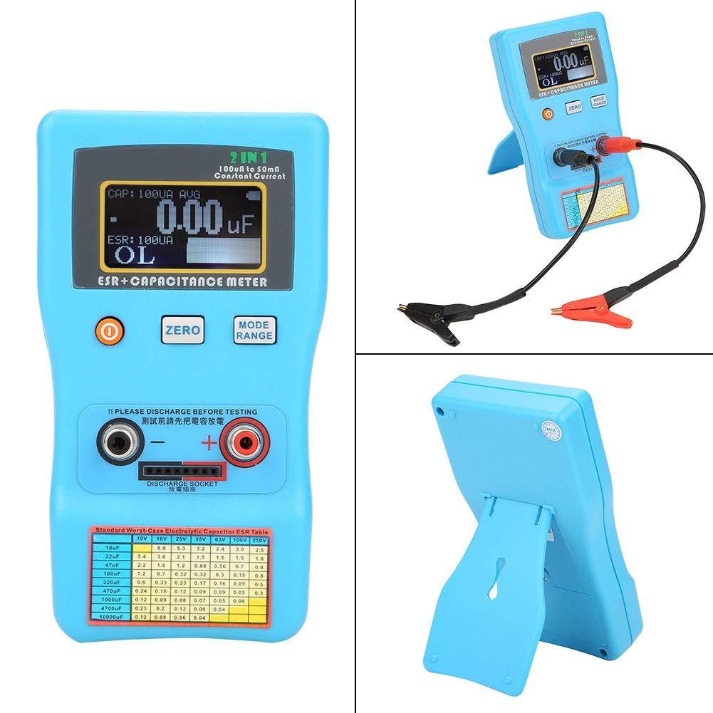 Capacitor Meter, MEC-100 High Precision Digital Display Automatic Range Electrolytic Capacitance ESR Meter