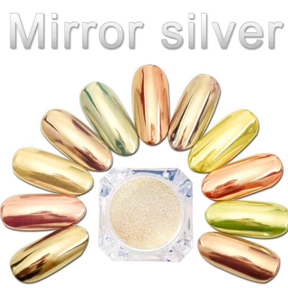 Nail Powder, Sexy Chameleon Nail Mirror Powder Glitter Chrome Powder Art Decoration, Nail Art Tool