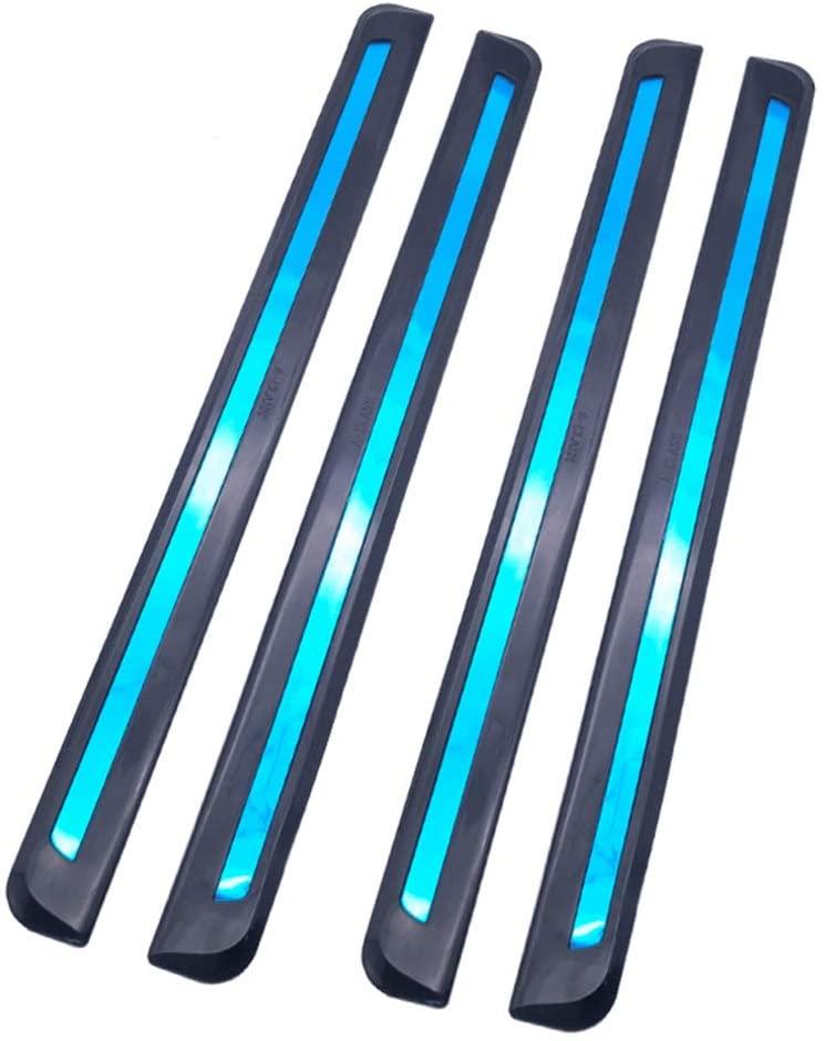 idain 4pcs Car Bumper Protector Strips Guard Corner Anti-Collision Protective Trim Anti-Scratch Sticker Universal Fit (Black)