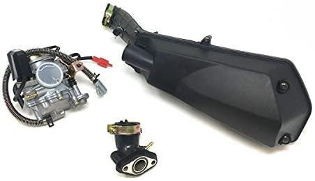 MYK Repair Upgrade Combo 50cc Tao Tao: Scooter won't run troubleshooting Kit includes Adjustable Carburetor, Air Filter and Intake Manifold