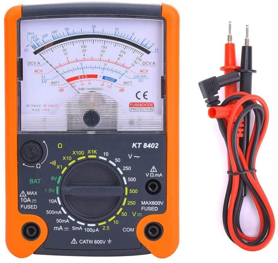 KT8402 Digital Multimeter, High-Precision Pointer Multimeter Electrical Testers Tool for DC Voltage Current Resistance