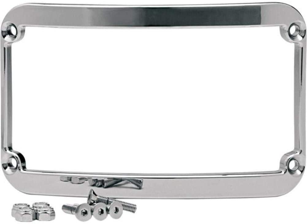 Klock Werks Frenched License Plate Frame Chrome FL 97-10