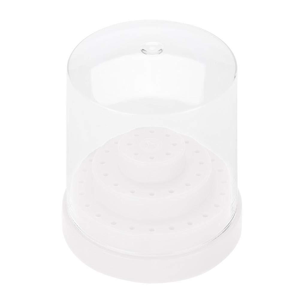 48 Holes Nail Art Plastic Nail Drill Stand Holder Nail Drill Bit Display Nail Drill Holder Drill Bit Display Organizer Box(04)