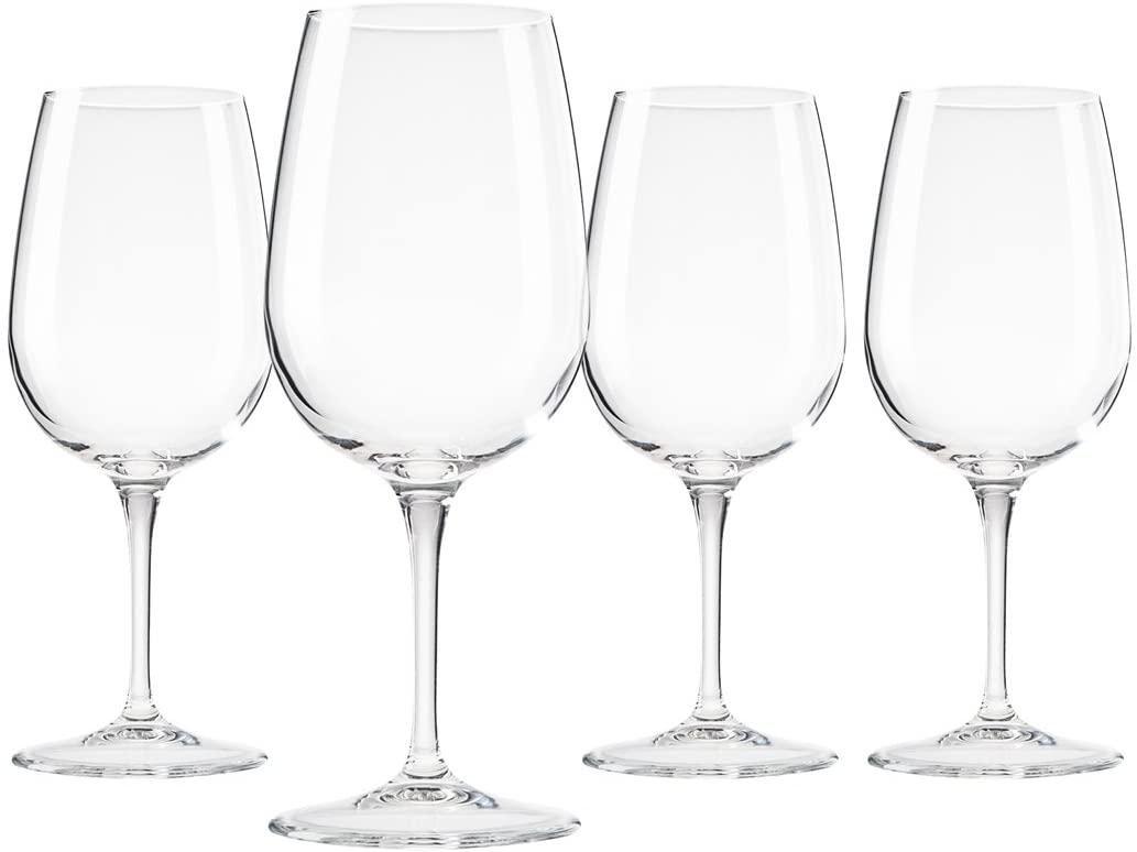 Bormioli Spazio Medium Wine Glasses, Clear, 13.5 oz (Set of 4) …