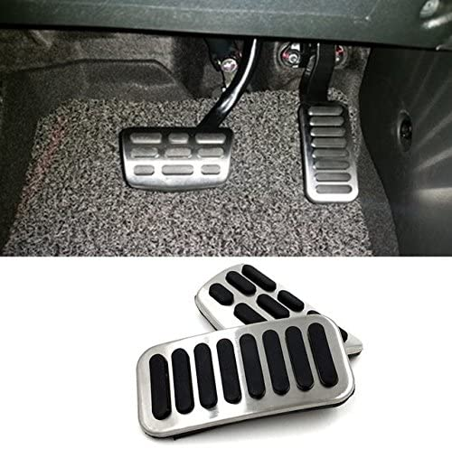 WANWU Cardimanson Stainless Steel Gas Fuel Brake Pedal Pads Cover for Hyundai Elantra (AD) 2016-2018(AT)