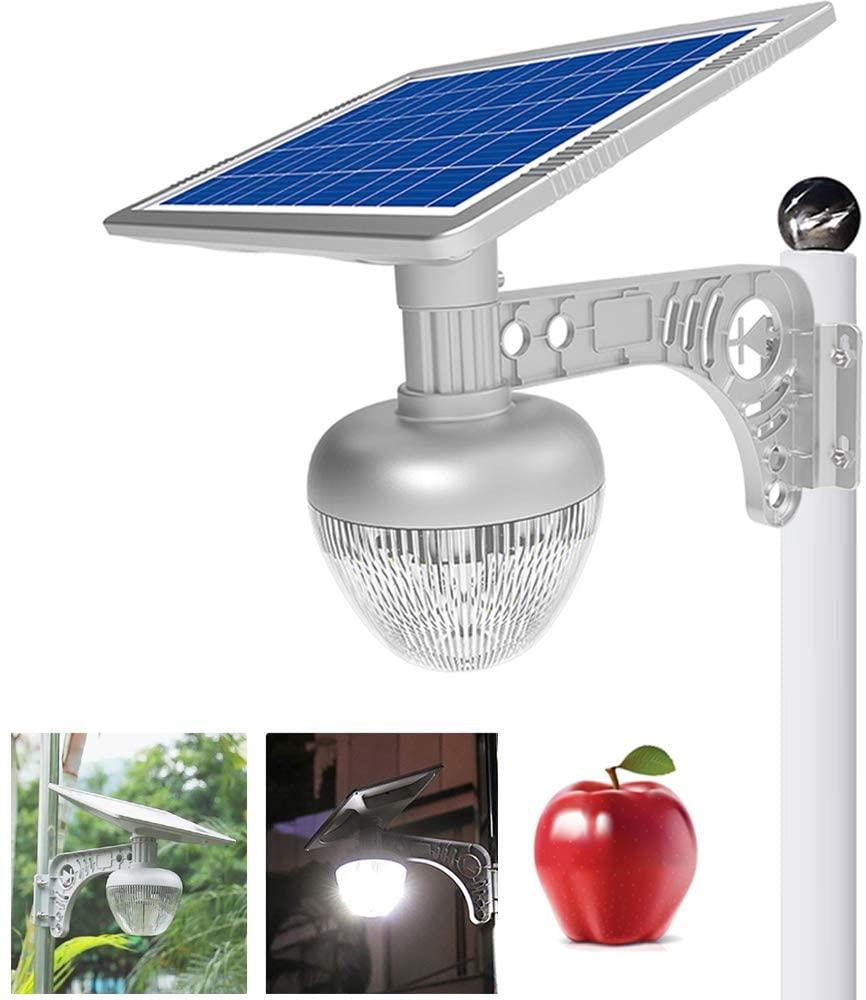ECO-WORTHY 2700LM LED Solar Street Flood Lights Outdoor Lamps, Solar Garden Lights All-in One Wireless Dusk to Dawn with 18 W Solar Panel, Solar Motion Sensor Landscape Light for Villa, Lawn, Street