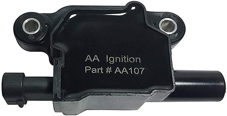 Ignition Coil Pack - Replaces 12570616, D510C - Compatible with Chevrolet, GMC, Cadillac, Buick 5.3L, 6.0L V8 & More - G8, Grand Prix, H3, Tahoe, Yukon, Silverado, Impala, Envoy, Trailblazer