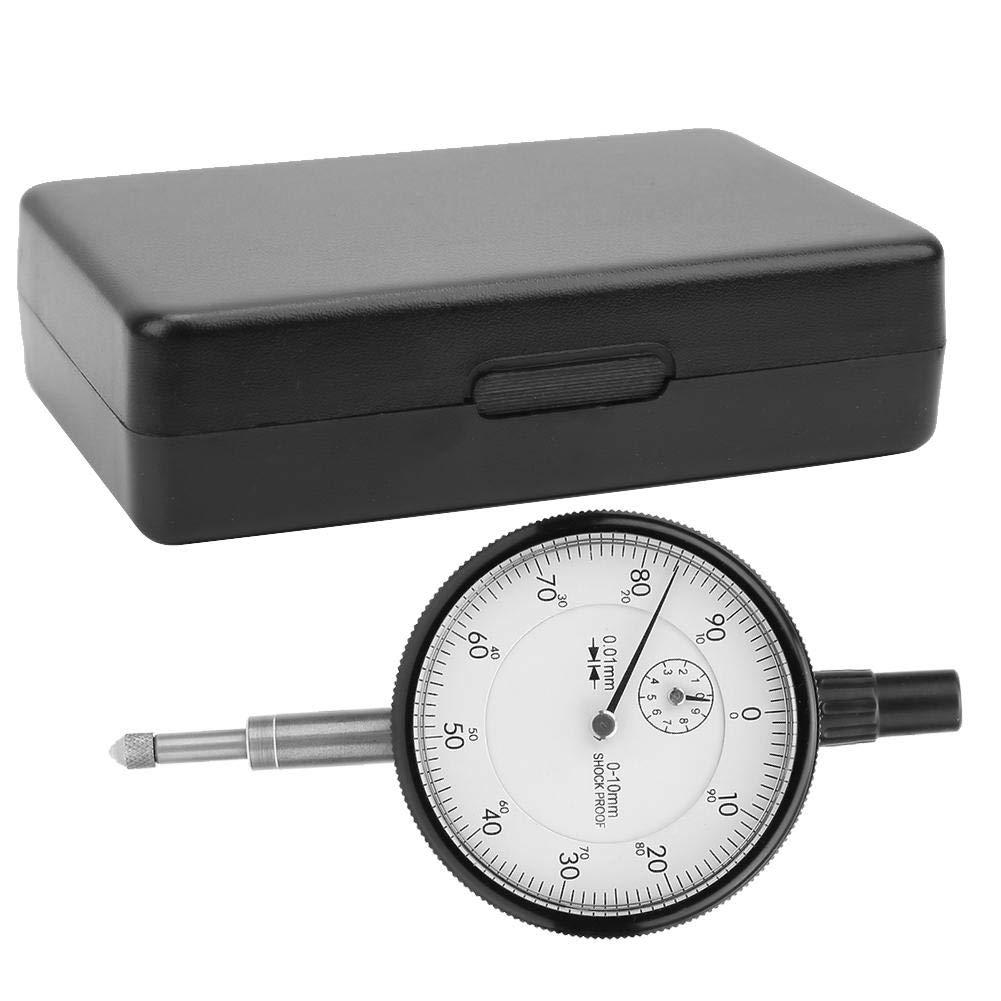 Instrument Gauge,Jadpes Shockproof Dial Indicator Mechanical Indicator Accuracy 0-10mm/0.01mm Range Small School Watch Set Dial Indicator Gauge Measuring Tool