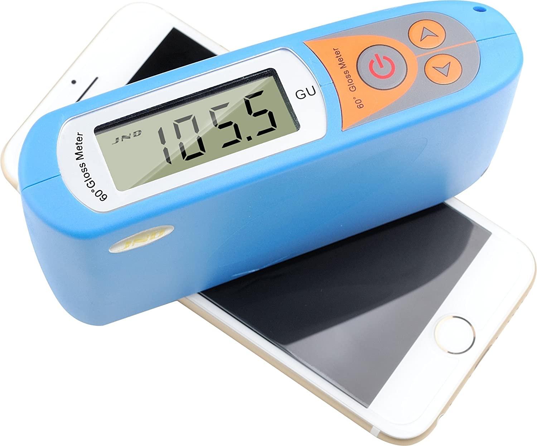 MeterTo High Precision Gloss Meter MA6 60 Degree Glossmeter 0-199.5Gu Accuracy 0.5Gu for Marble Paint