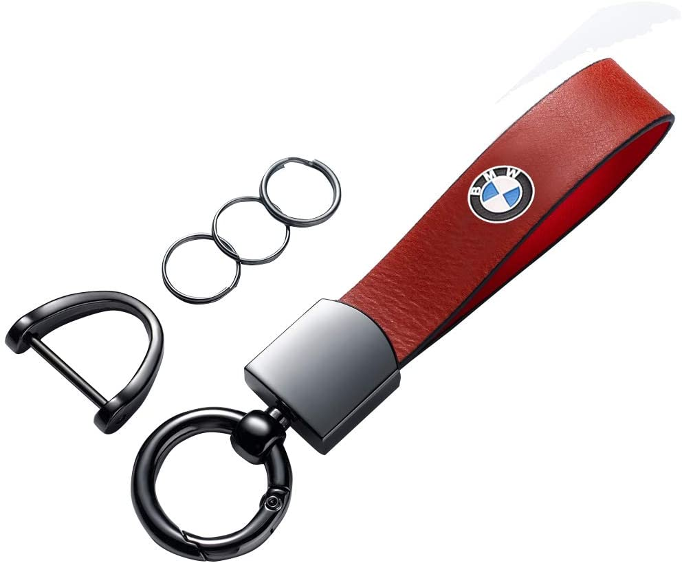 for bmw keychain Car Key Chain Suit for BMW Car Logo Keychain Suit for BMW 1 3 5 6 Series X5 X6 Z4 X1 X3 X7 7 Series, M Key Chain Keyring Styling Decoration Accessories red
