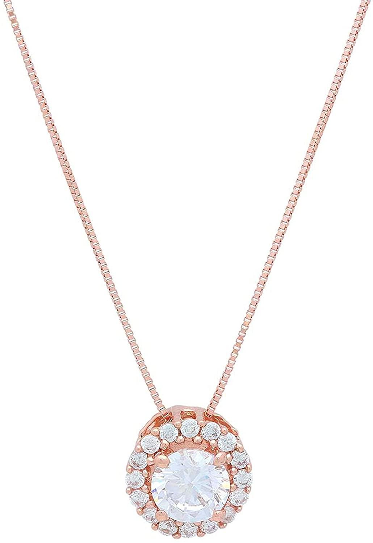 1.30 ct Brilliant Round Cut Pave Halo Highest Quality Moissanite Ideal VVS1 D Solitaire Pendant Necklace With 16