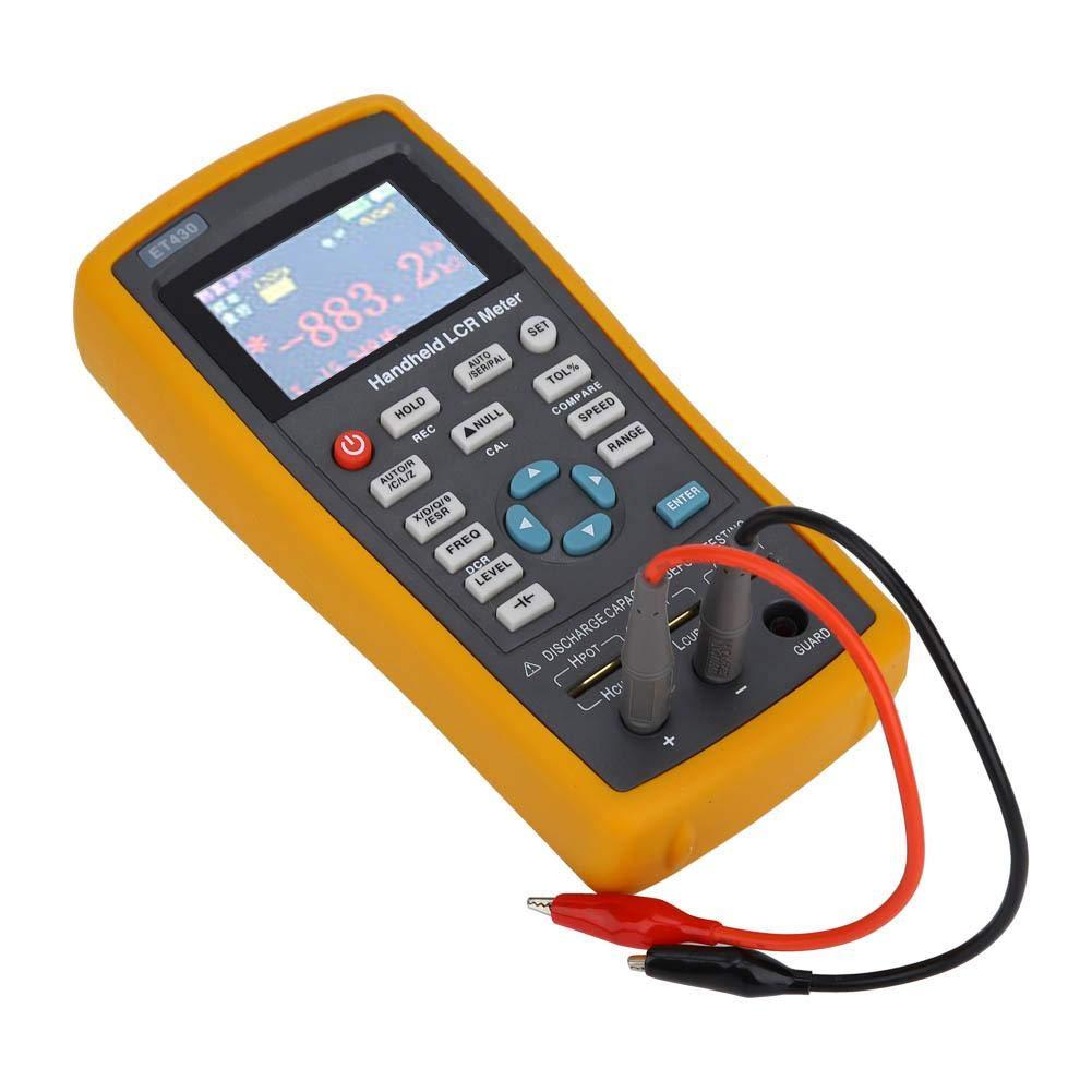 Tester Digital Resistance Capacitance Digital Capacitance Meter, Handheld Digital Resistance Meter, for Industrial Household(ET430)