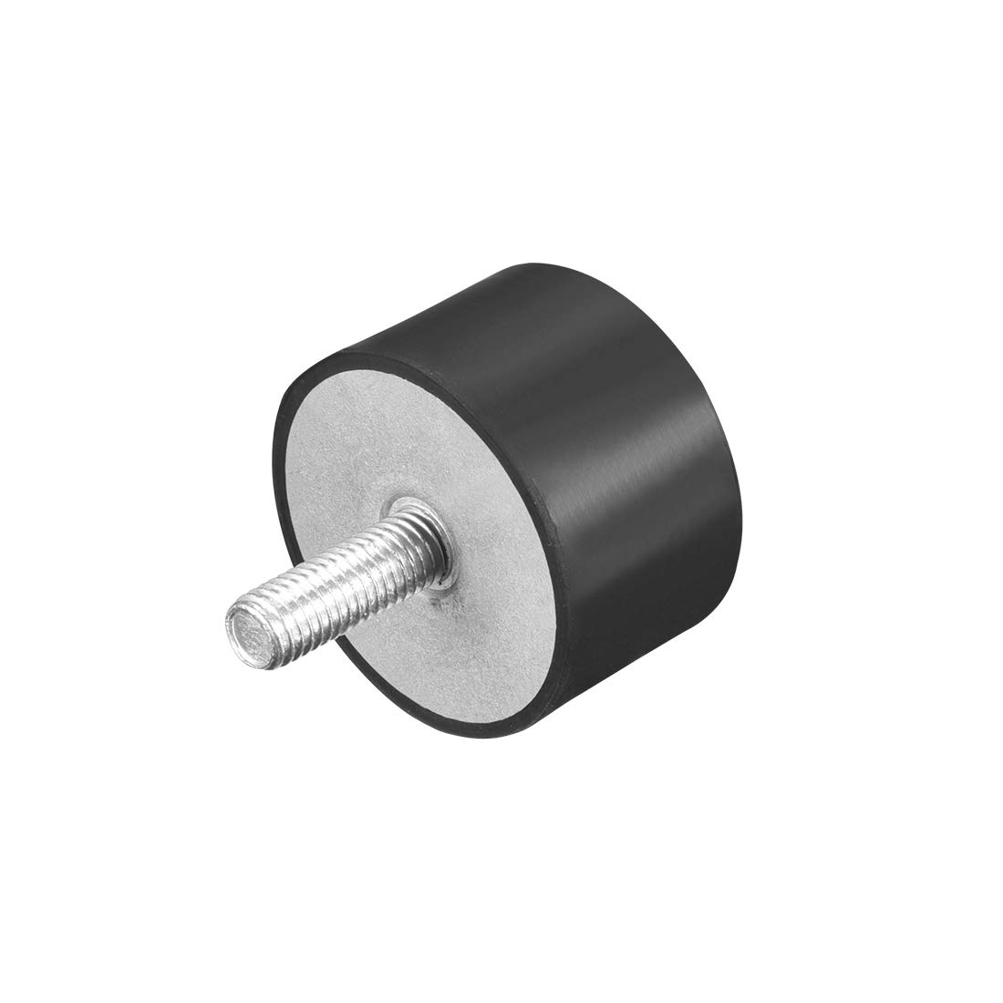 uxcell M10 Thread Rubber Mounts,Vibration Isolators,Cylindrical Shock Absorber with Studs 50 x 30mm