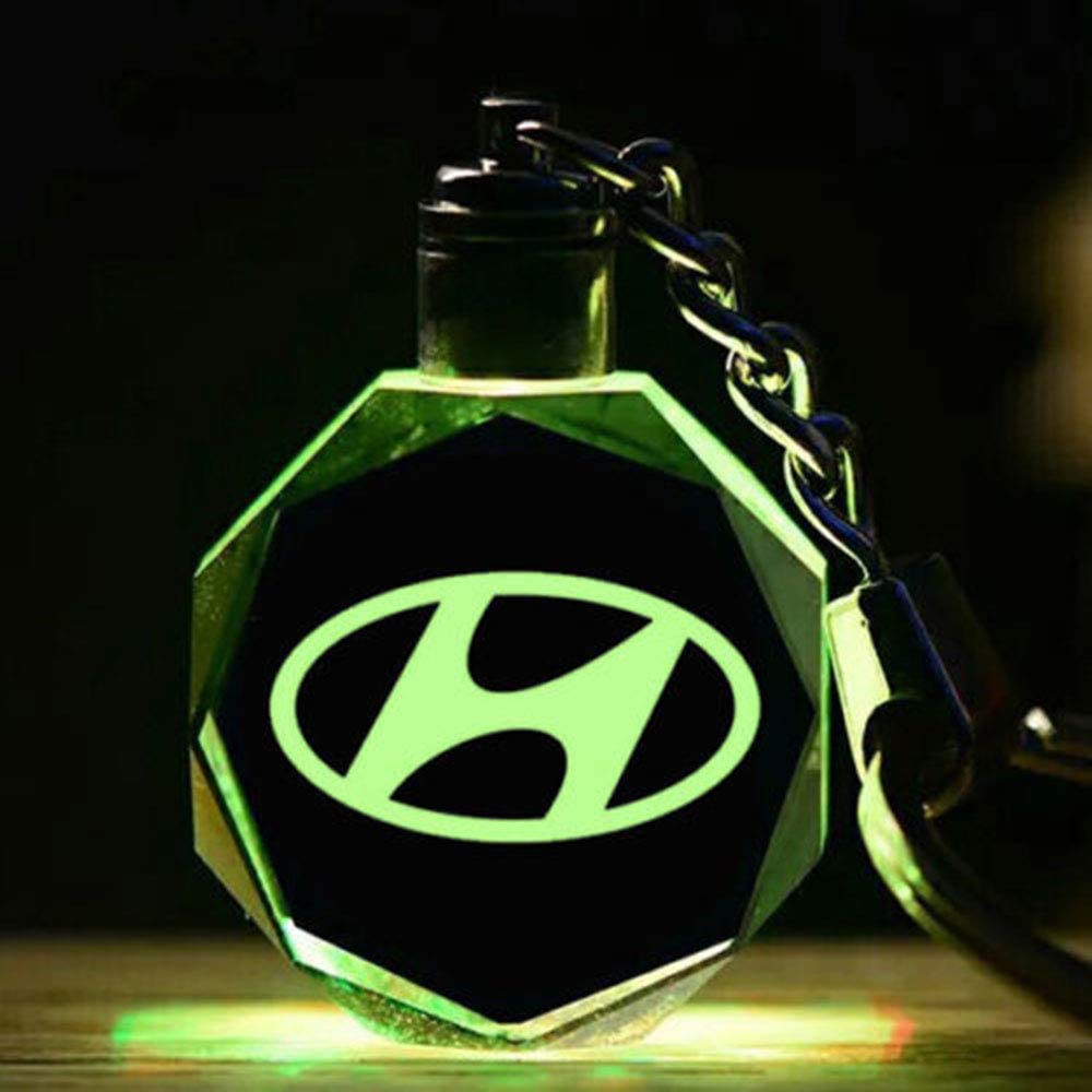 Fitracker LED Car Keychain Crystal Light Changing Car Key Chain Keyring Accessories