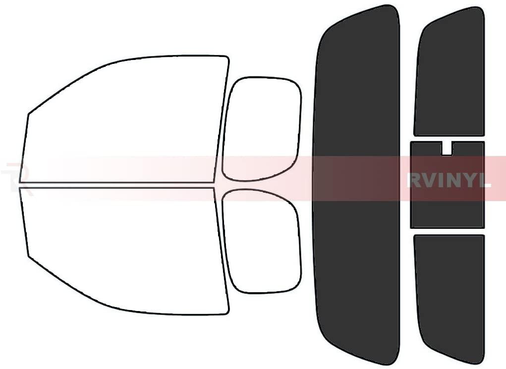 Rtint Window Tint Kit for Nissan Frontier 2006-2020 (2 Door) - Rear Windshield Kit - 20%